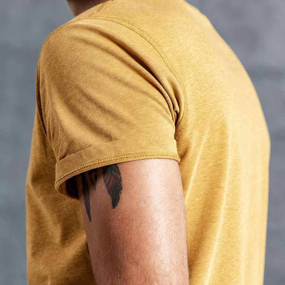 SIMWOOD 2019 лето новый 100% цветной хлопок Футболка мужская вырез лодочкой с коротким рукавом Футболка Повседневная Высокое качество футболки топы 190116