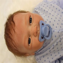 18 inch 46 cm Silicone baby reborn dolls, lifelike doll reborn Lovely blue Pentagram leotard doll