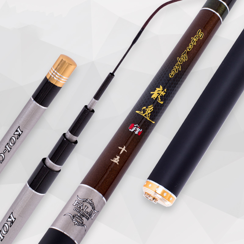 все цены на Carbon Fiber Taiwan Fishing Rod Hand Rod Carp Fishing Pole 3.6/3.9/4.5/5.4/6.3M Power XH Hard Light Crucian Rod Fishing Tackle онлайн