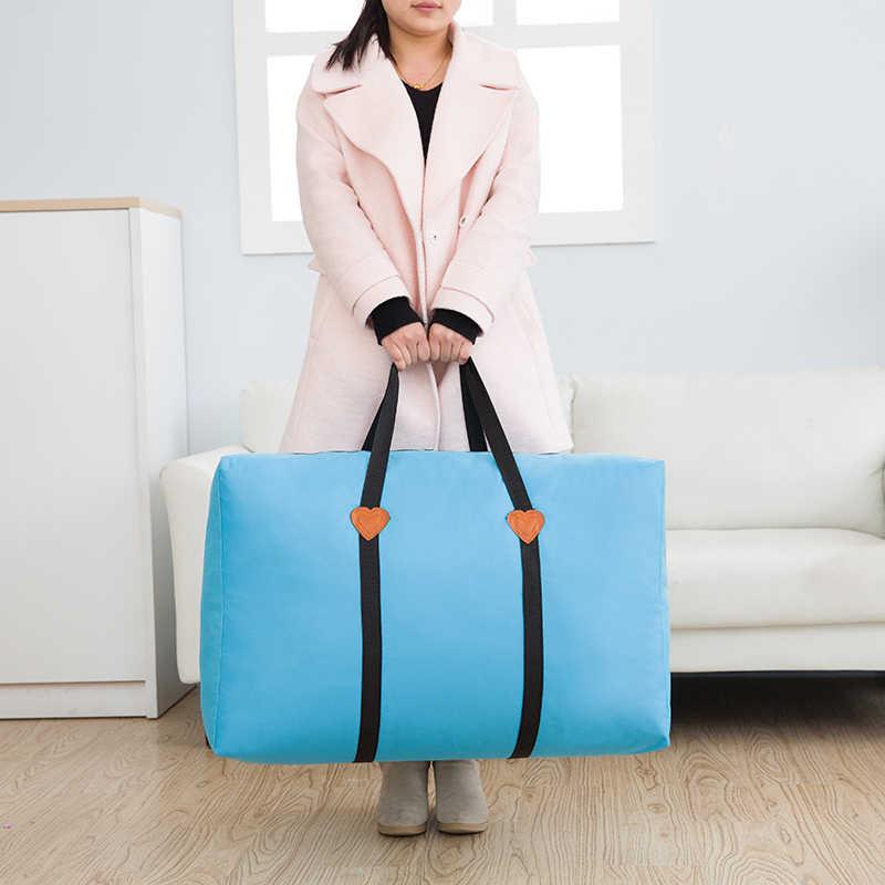 Милое одеяло сумка для хранения утолщенная Оксфорд чемодан домашний шкаф сумки