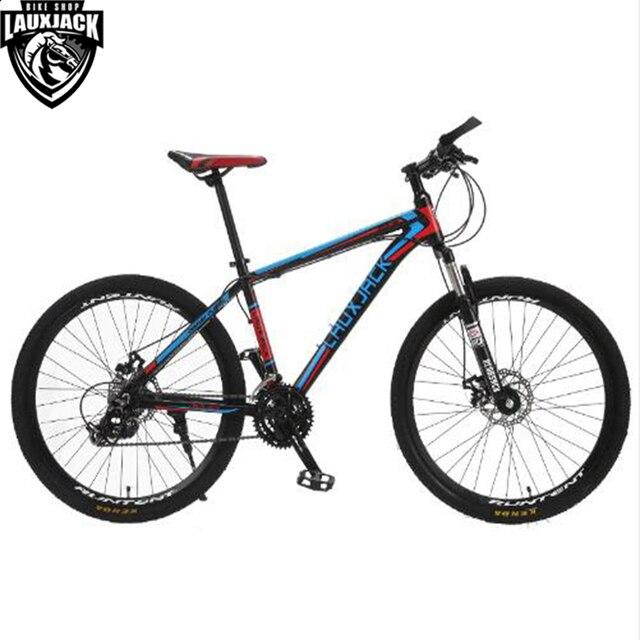 LAUXJACK Mountain Bike Aluminium Frame 24/27 Speed Shimano Mechanic ...