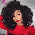 Brasileño de la virgen del pelo rizado rizado armadura del pelo humano brasileño bundles 7a brasileño onda profunda del pelo rizado rosa queen hair products