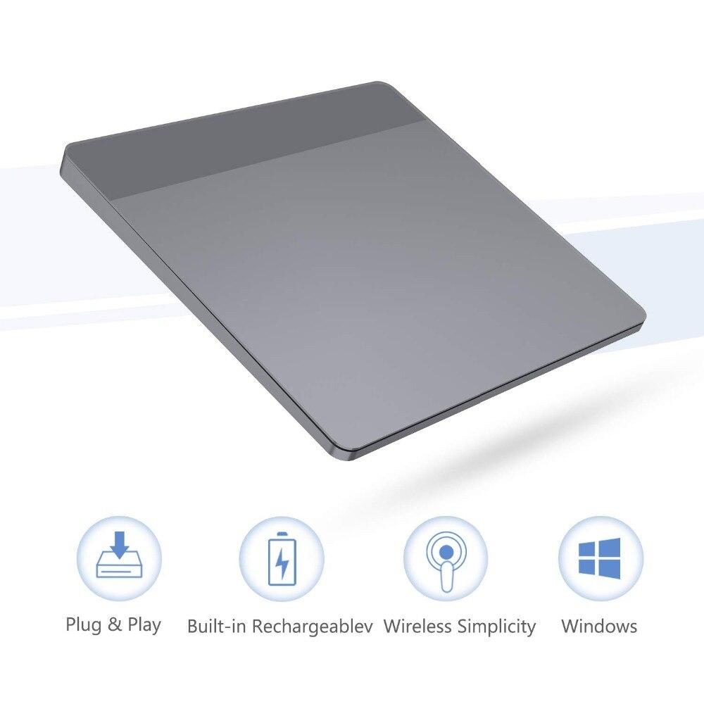 Pavé tactile sans fil Rechargeable de peigne de gelée avec le récepteur Nano pavé tactile sans fil pour le PC portable tablette tactile d'usb pour Windows 10 Mac OS - 3