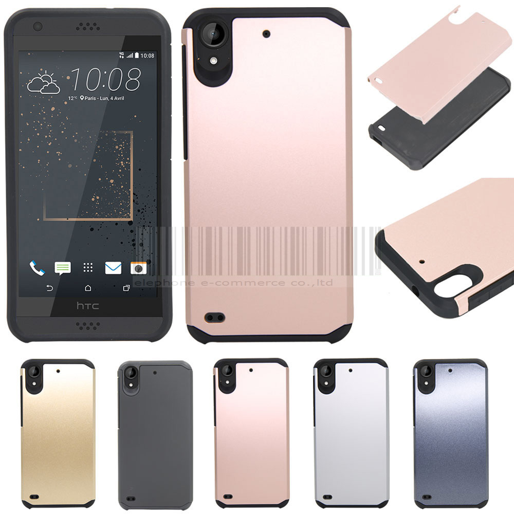Phone Case For HTC Desire 530 630 2in1 TPU+PC Ruggedn Hybird Impact Armor Hard Kickstand Case Cover For Cricket HTC DESIRE 555 image
