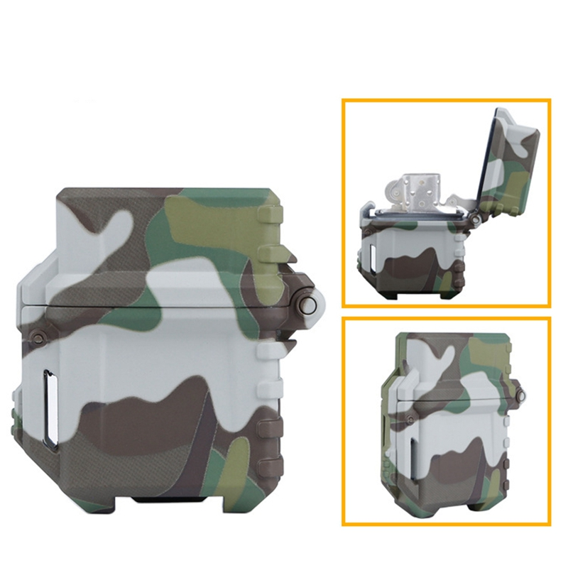 Tactical Lighter Storage Case Universal Portable Box Container lighter storage box Camping hiking Outdoor Tools|Outdoor Tools| |  - title=