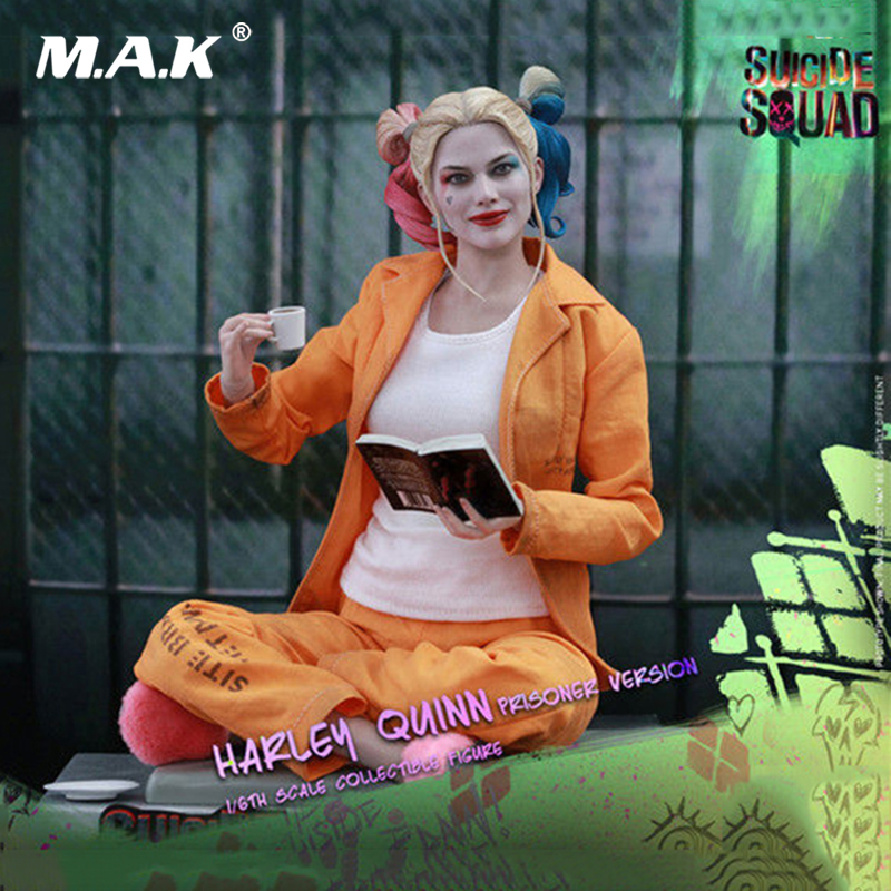 1/6 Collectible Full Set Hot Toys MMS407 Suicide Squad Harley Quinn Prisoner Ver. Seemless body Model for Fans Collection Gift1/6 Collectible Full Set Hot Toys MMS407 Suicide Squad Harley Quinn Prisoner Ver. Seemless body Model for Fans Collection Gift