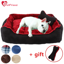 Pet Cat Dog Bed Washable Warm Mat Nest Pad Sleeping Sofa for Small & Median Size Bulldog Yorkshire Modern Design+ Free Gift Toy