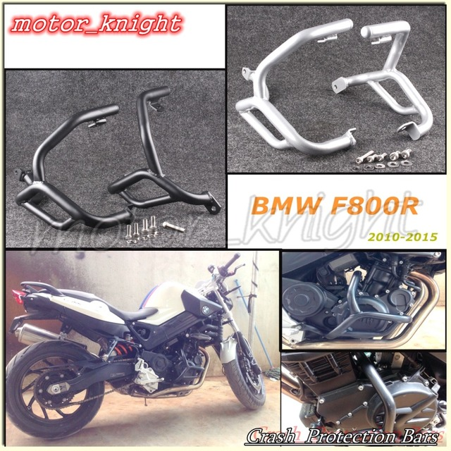 Silver Black Crash Protection Bars Engine Guards For BMW F800R 2010 2011 2012 2013 2014