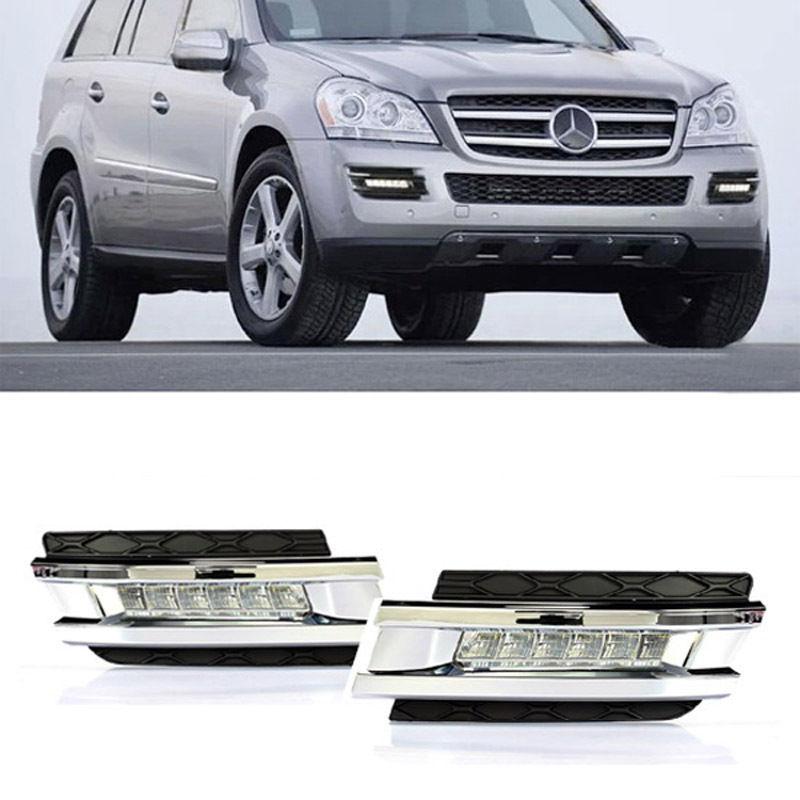 12V Car DRL LED Daytime Running Light Fog Lamp For Mercedes-Benz W164 GL320 GL350 GL420 GL450 GL550 2006 2007 2008 2009