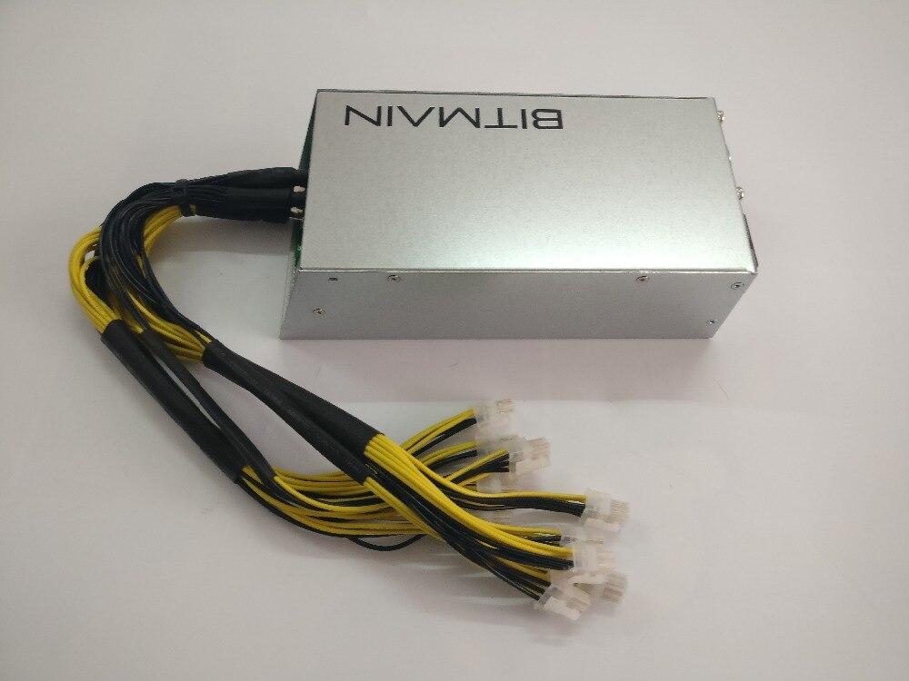 Utilizzato BITMAIN APW3 1600 w BTC LTC DASH ETH Minatore Alimentazione Per ANTMINER S9 S9i S9j T9 + Z9 mini DR3 L3 + E3 X3 A9 Baikal X10 PSU