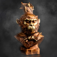 24CM L home Business TOP COOL decorative ART The God of victory Talisman Hand engraving CHINA Sun Wukong BRASS sculpture Statue
