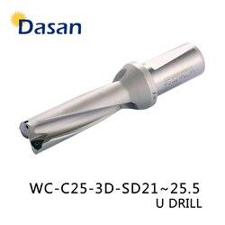 Wiertła U 3D WC SP C25 SD21 22 23 24 25.5mm Indexa wkładka Drilll wysokiej prędkości precyzyjne wiercenie CNC rozszerzenie wiertarka