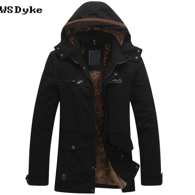 26e0893f5 2017 Autumn Winter New Casual Medium Long Campera Hombre Invierno High  Quality Hooded Blouson Homme Hiver