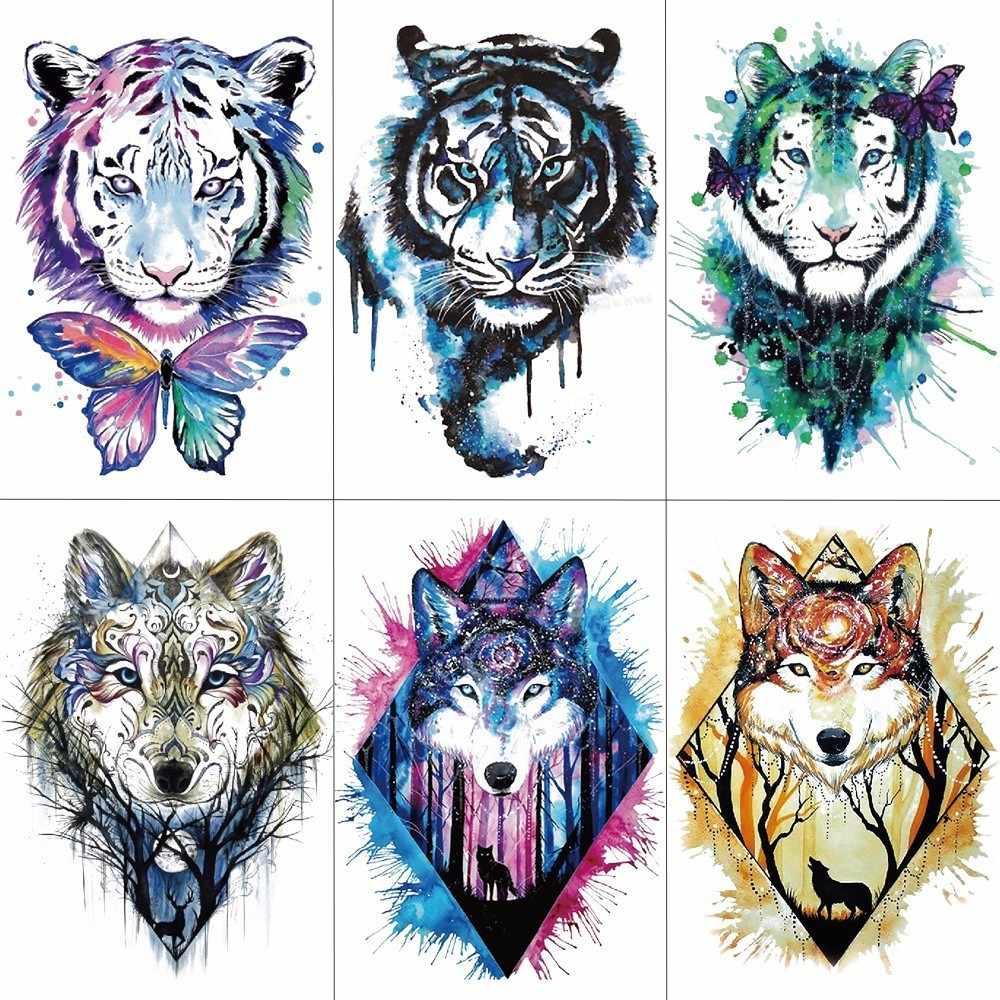 5f6b82761 Detail Feedback Questions about HXMAN Men Arm Sleeve Tattoo Sticker Wolf Tiger  Temporary Tattoos Women Fake Hand Tattoos Body Art 21X15cm TH 193 on ...