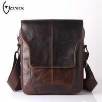 ZZNICK 2018 New Genuine Leather Bag Men Bags Small Casual Flap Shoulder Crossbody Bags Messenger Men's Leather Bag Men Handbags