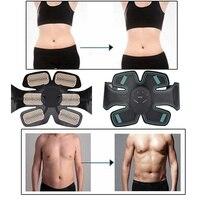 Inteligente Estimulador Fitness Formação Engrenagem Forma Abdominal Exercitador Muscular Cinto de Tonificação Abs Bateria Fit Casas Exercitador