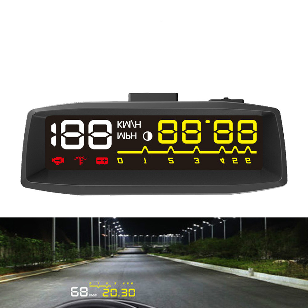Car HUD Head up Display OBD II EOBD Auto Digital Car Speedometer Projector on the Windshield Overspeed Warning Voltage Alarm 3d cool racing car pattern home appliances decoration wall sticker