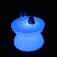 PE светодиодный журнальный столик освещение, барная стойка Бесплатная доставка 1 шт.