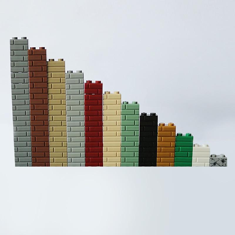 LEGO LOT OF 100 NEW LIGHT BLUISH GREY 1 X 2 DOT PLATES BUILDING BLOCKS PIECES