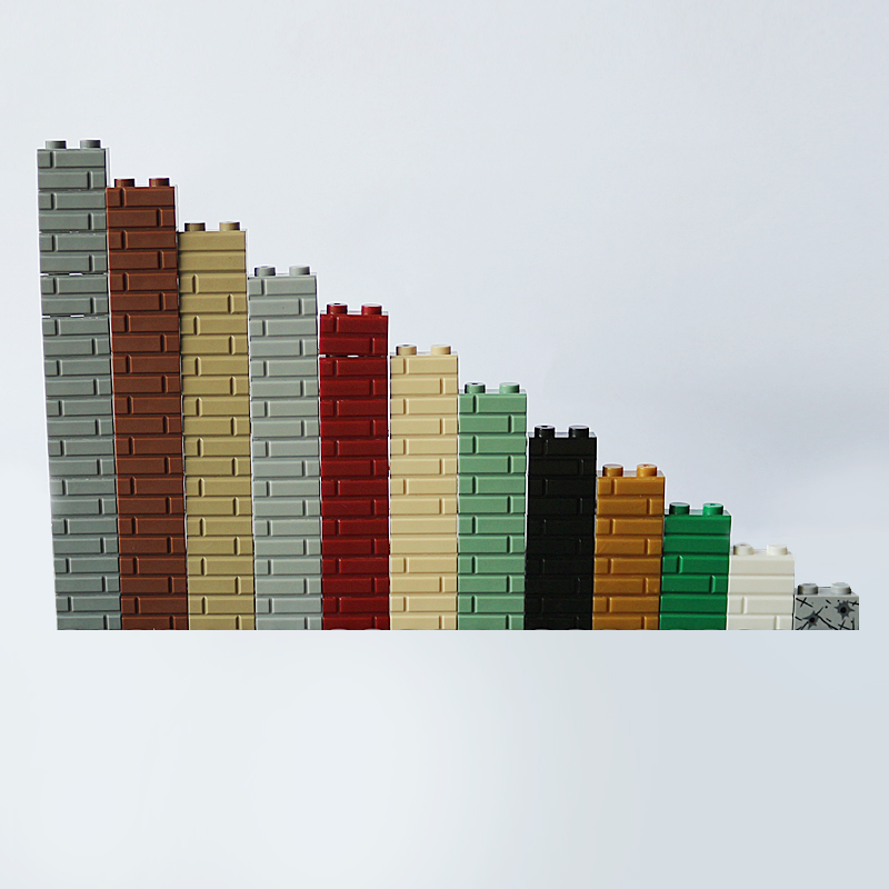 100Pcs Castle MOC City DIY War Block Brick 1X2 Building Blocks Parts Compatible with Legoed Creative Toys Kid Gift Blocks Parts cinderella princess castle city set 697pcs model building block kid diy toy funny birthday gift compatible with lepine xd17