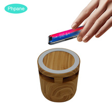 2 in 1 Wireless Bluetooth Speaker with Universal QI Wireless Mobile Charger Support For HUAWEI P30pro Xiaomi Htc Samsung IPHONE цена 2017