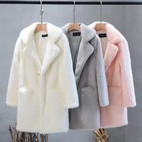 Название позиции Женское зимнее пальто с длинным рукавом из искусственного лисьего меха Модная тонкая куртка из искусственного меха плюс р