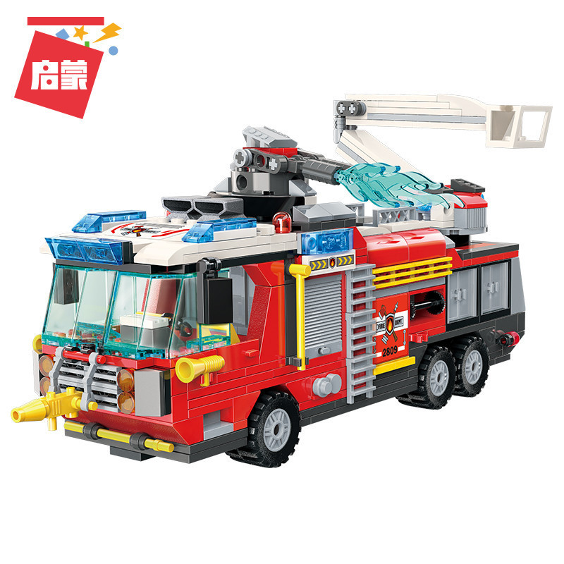 City-Fire-Airport-Rescue-Operation-Spray-Water-Truck-Firemen-Car-Building-Blocks-Sets-Bricks-Model-Kids (1)