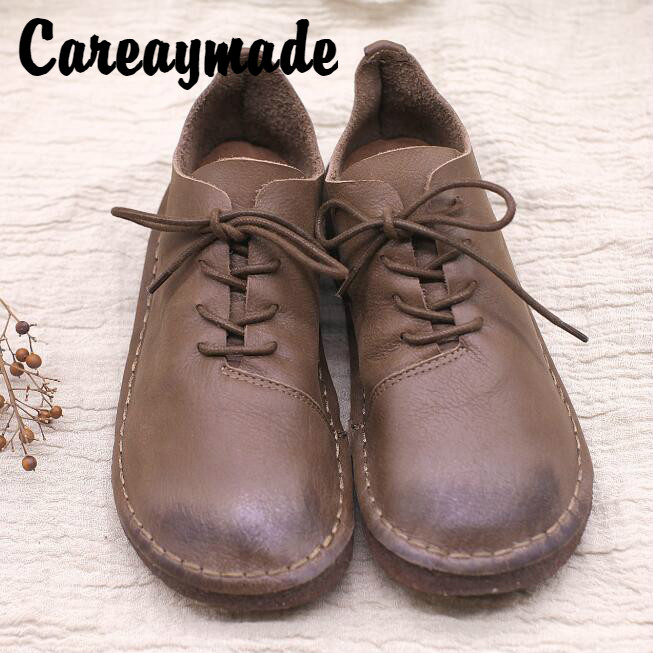 Careaymade-Early autumn new 2018 hand custom-made original Sens ancient genuine leather shoes,round head casual womens shoes