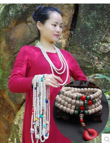 Тибетский Буддизм мужской женский Выберите тип реальный выстрел наряду Белый Бодхи сына 108 плотность браслет ручной ожерелье бусы оригинал...