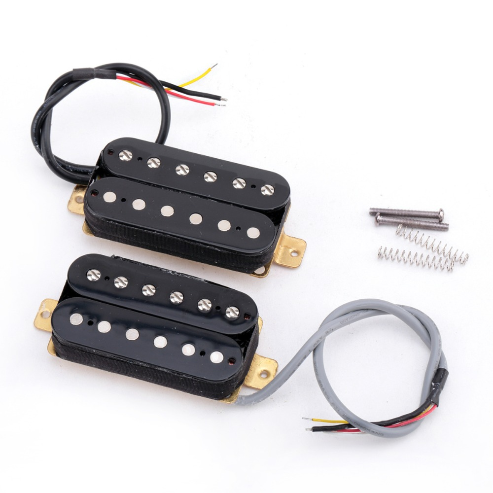 Musiclily Pro Alnico 5 Electric Guitar Humbucker Neck/Bridge/Neck & Bridge Set Pickup for Electric Guitar Bass Parts kmise single coil pickup for electric guitar parts accessories bridge neck set black with chrome gold frame