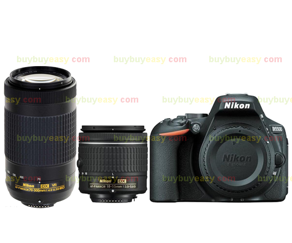 Nikon D5500 DSLR Camera Body & AF-P 18-55mm VR and Nikkor AF-P DX 70-300mm F/4.5-6.3G ED VR Lens