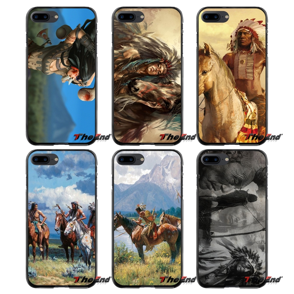 Native American Indian For Apple iPhone 4 4S 5 5S 5C SE 6 6S 7 8 Plus X iPod Touch 4 5 6 Accessories Phone Shell Covers