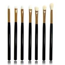Natural Hair Eye Makeup Brushes Set Eyeshadow Brush Set 7 Pcs Make Up Brushes Soft  Wool Fiber Make Up Brushes Without Skin Hurt