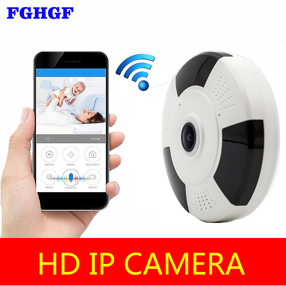 FGHGF 1080P Fisheye IP Camera Infrared Panoramic Wireless Mini Indoor Cam with IR Night Vision /2-way Audio/ Motion Detection easyn a115 hd 720p h 264 cmos infrared mini cam two way audio wireless indoor ip camera with sd card slot ir cut night vision