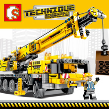 Sembo Video details Mobile Crane Sets Building Blocks Bricks figures 20004 Technic 42009 Educational Toys Birthday Gifts