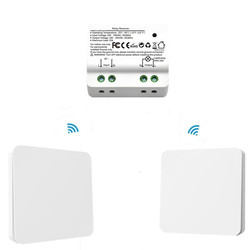 QCSMART Wireless Light Switch Kinetic Self-Powered Wall Switch Remote Control  Light No Wire Required Can Put Anywhere