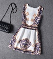 Europe Style Girls Sleeveless Dress Flower Girl Princess Dresses Girls Clothing for Summer