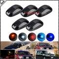 5 unids Ámbar/Rojo/Azul Azul//Hielo Azul/Blanco LLEVÓ el Techo de la Cabina Superior Marcador Luces de Marcha Para camión SUV 4x4 (Lente Transparente Lámparas)