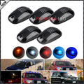 5pcs Amber/Red/Blue/Ice Blue/White LED Cab Roof Top Marker Running Lights For Truck SUV 4x4 (Clear Lens Lamps)