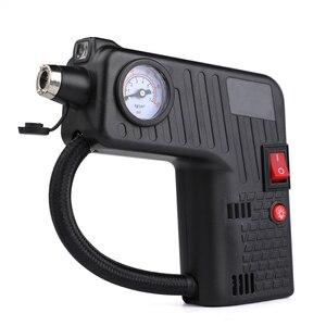 Image 2 - Siyah lastik şişirme pompası DC 12 V Çok fonksiyonlu Taşınabilir Elektrikli Otomatik Pompası Arabalar Için Bisiklet Pompaları Işaretçi Ekran