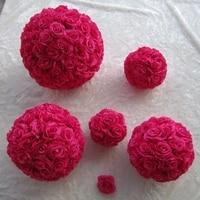 Wedding Hanging ball 40cm Diameter Flower Kissing Ball for Wedding Decoration 8pcs/lot
