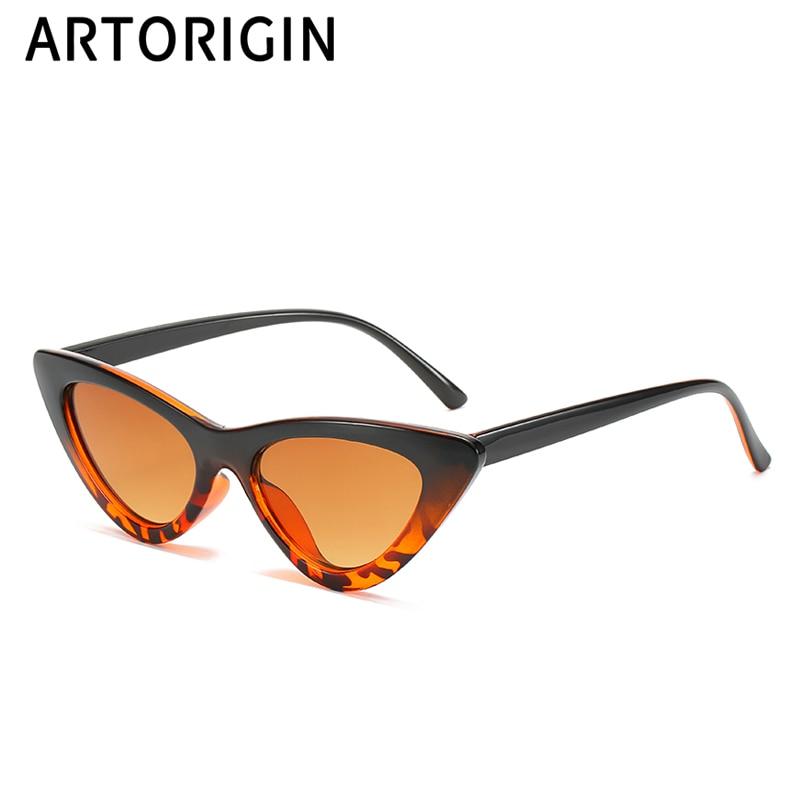 Stylish Retro Cat Eye Sunglasses Women Leopard Red Pink Triangle Vintage Cheap Sun Glasses Female UV400 New Design Colors