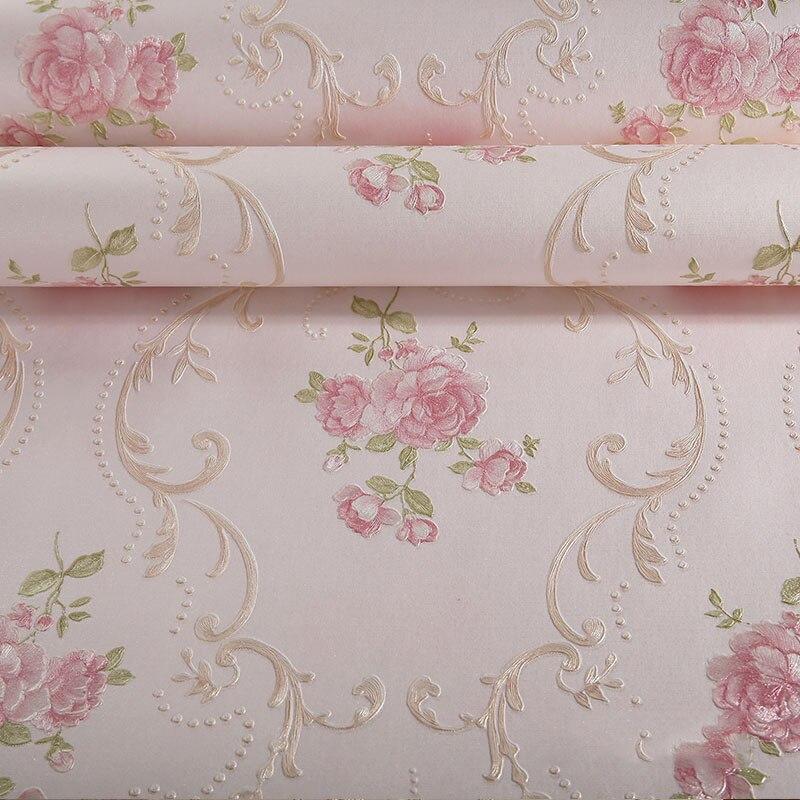 Rouleau de papier peint à fleurs européen pour murs 3D Mural Non-tissé papiers peints décor à la maison pour salon chambre papel de parede 3d