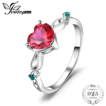 f00de1c23ed8 JewelryPalace moda 1.7ct creado Ruby 3 anillo de piedra Real 925 joyería de  plata esterlina