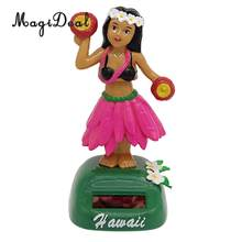 Dancing Hula Hawaiian Girl Figure Model - Solar Power Model Doll Figurine Statue Kid Educational Science Toy Gift Home Decor #D(China)