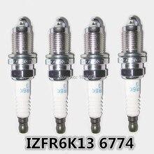 4 шт./лот Высокое качество Лазерная иридий свечи зажигания для Honda 2003-2007 Accord L4-2.4L подходит 2007-2011 L4-1.5L IZFR6K13 6774