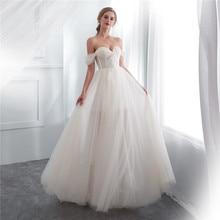 Off-Shoulder White Simple Cheap Beach Wedding Dresses 2018 Sweetheaert Spaghetti Straps Summer Bridal robe