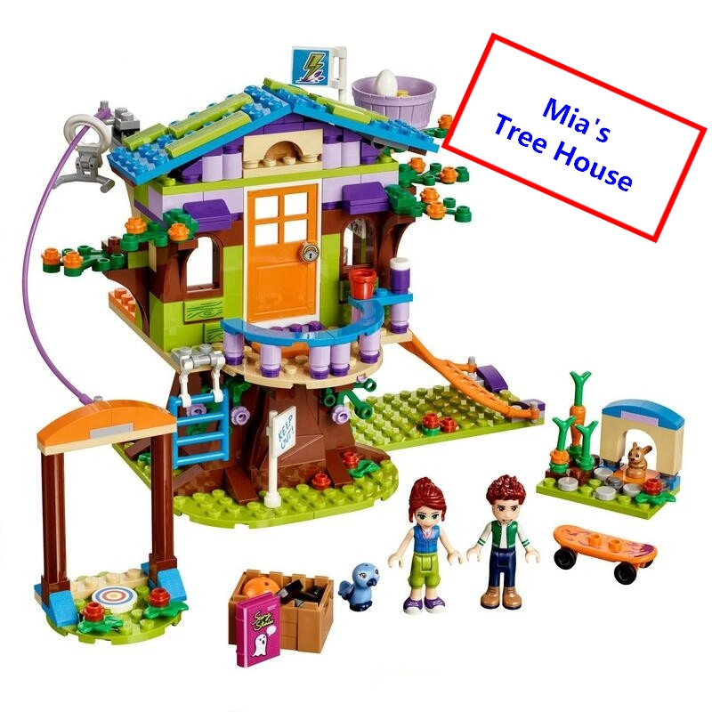 Friends Mia's Tree House Building Blocks DIY Educational Bricks Girl Friends Best Gift Toys For Kids Compatible With Lego 41335 50pcs starwars superhero building the roman soldiers blocks bricks friends for girl boy jenga house games children toys