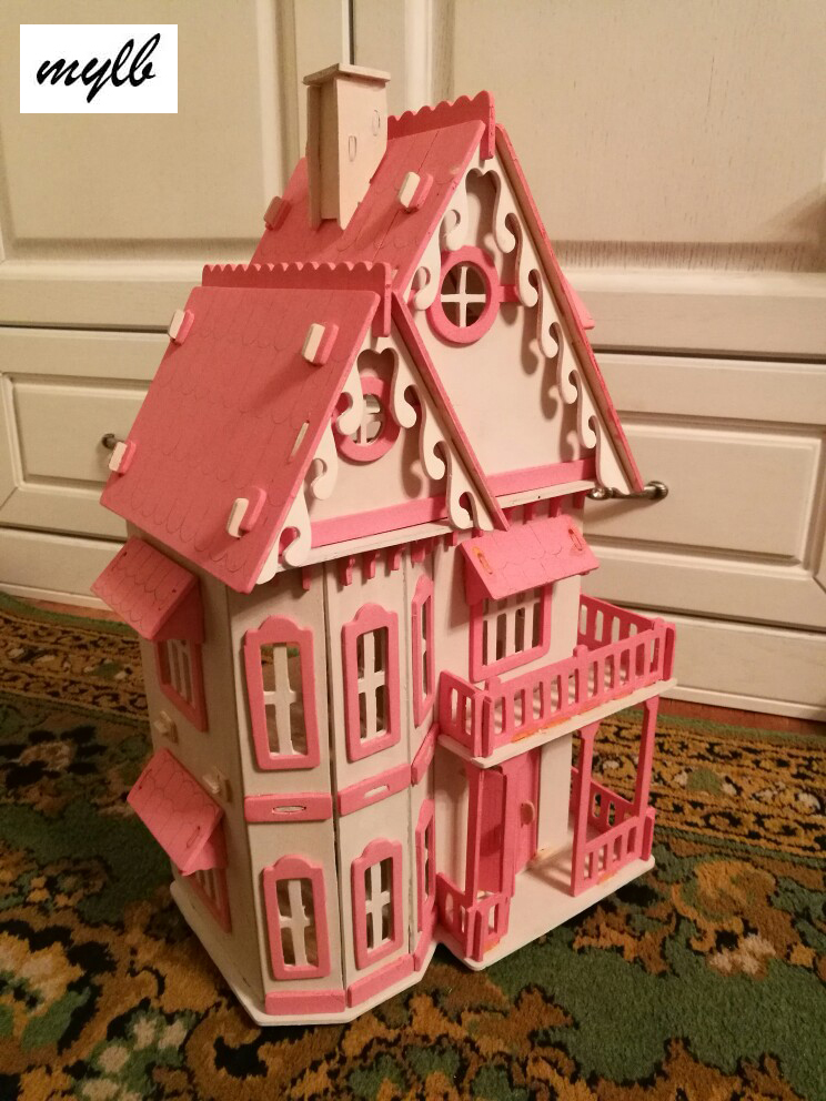 mylb Hot Sale DIY Doll House Wooden Miniatura Doll Houses Miniature dollhouse With Furniture Kit Villa LED Lights Birthday Gif assemble diy doll house toy wooden miniatura doll houses miniature dollhouse toys with furniture led lights birthday gift