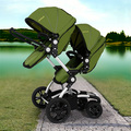 Unique Twins Baby Stroller Second Seats Cart  Folding Baby Buggy High Landscape Baby Carriage